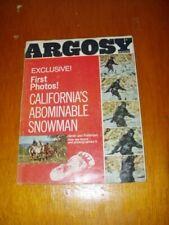 Argosy Magazine California's Abominable Snowman - 1968 - Bigfoot, Sasquatch Rare