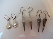 3 Paar schöne ,alte Ohrringe__Ohrhänger__925 Silber__6,2...cm  !