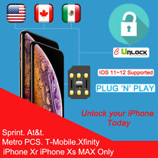 Cell-Unlock Unlock Chip Sprint Att T-mobile Turbo Sim iPhone Xr / Xs Max only