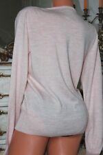 (Ref 6)  GAP Italian Merino Wool Pink Ladies  V Neck Jumper Size L