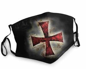 Washable Reusable Face Mask Knight Templar - UK Seller