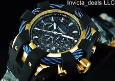 Invicta 50MM Men's BOLT Sport Chronograph Black Carbon Fiber Dial SS Watch