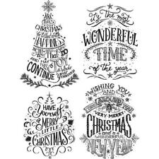 Tim Holtz Cling Rubber Stamps - Doodle Greetings #2 CMS 286