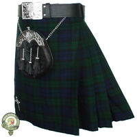 Mens Kilt, 5 Yard Scottish Kilts, Black Watch Tartan Kilt, Casual Kilt New Kilts