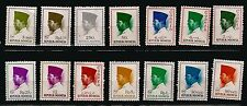 106T2 INDONESIA 14 stamps new : president Sukarno