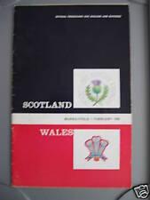 Scotland v Wales 1969 Signed Rugby Programme