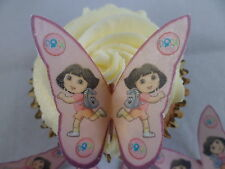 12 Dora the Explorer Butterfly Cup Cake Toppers Edible Rice Wafer Paper     DE1