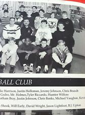 David Wright , BJ and Justin Upton Mets Braves Hickory Middle School Yearbook