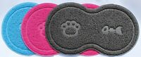 """8""Shape Pet Dog Puppy Cat Feeding Mat Pad Cute PVC Bed Bowl Food Feed Placement"