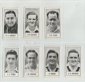 1956 BARRATT - TEST CRICKETERS (SERIES A) - 7 CARDS