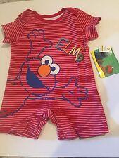 Red Sesame Street Elmo Romper NWT Sz 0-3M One Piece Playsuit