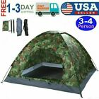 3-4Person Portable Dome Tent Camping Hiking Travel Outdoor Waterproof Camouflage