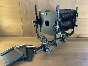 Exc+5 Cambo SC 4x5 Large Format Film Camera Body w/ film Holder From Japan