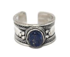 Lapis ring healing ring Silver ring Nepal ring Tibetan ring Boho Ring