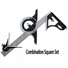 """12"""" Engineers Combination Square Set Angle Finder Protractor & Measuring Ruler"""