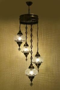 4 Globe Turkish Moroccan Mosaic Glass Hanging Lamp Ceiling Light Chandelier