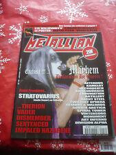 METALLIAN MAGAZINE 01/2000 French Mayhem Stratovarius OOP rare