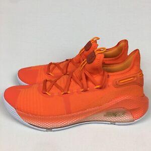 RARE Under Armour UA Curry 6 Team Orange Basketball Shoes Sz 11  3022893-800