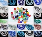 100pcs 3x4mm Rondelle 5040# Faceted Crystal Glass Loose Spacer Beads 75Colors
