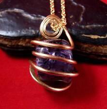 Grape Purple Russian Chaorite Pendant Bronze Merlin's Gold #22