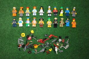 20x LEGO® Figur Konvolut Minifiguren Kopfbedeckung und Zubehör #10