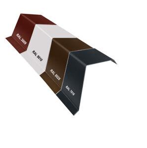 Aluminium Ortgangblech Ortblech Dachrandblech Ortgangwinkel 0,8 mm 2000 mm 2 m