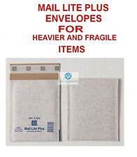 25 A000 White 110x160mm Bubble Mail Lite Plus Envelope for Heavier Fragile Item