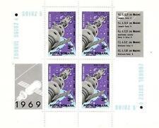 ROMANIA 1969 SPACE SOYUZ 4 5 BLOCK MI # BL 71 MNH