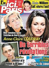 ICI PARIS N° 3665--ANNE CLAIRE COUDRAY/ADELINE VIOL JOHNNY/PHILIPPE ETCHEBEST