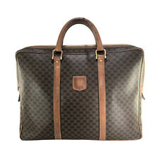 CELINE MACADAM VINTAGE COATED CANVAS & LEATHER BRIEFCASE