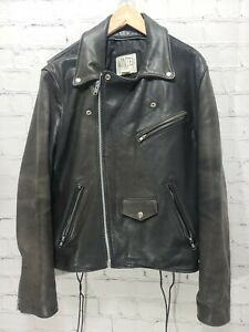 J Winter Leatherwear Motorcycle Jacket Size 44 Black Made In USA,         A75