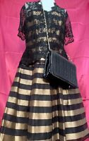 Vintage  Women's Liancarlo Couture Evening Dress Stunning Detail Gold  Size 10