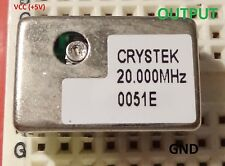 1 pc. 20MHz Precision Oscillator, trimmable, TTL compatible, full size 5V