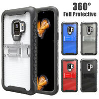 For Samsung Galaxy S9 /Plus 360 Shockproof Hybrid Rugged Bumper Stand Case Cover