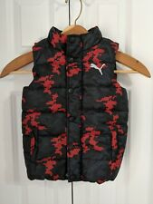 Boy's Toddlers Puma Puffer Jacket Size 4T Black Red
