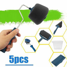 5Pcs Paint Roller Brush Set Runner Handle Household Wall Room Painting Tool Us