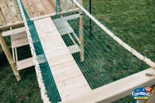 Rope Bridge FROM 4ft to 14ft With or Without Timbers NEW Netting Climbing Frame