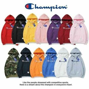 Hot Sell Champion Warm Hoodie Embroidery Sweater Pullover Sweatshirt Activewear