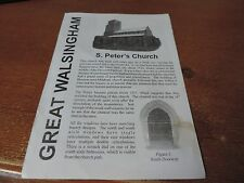 Great walsingham Norfolk St Peters Church 4 page guide ( stain on cover)