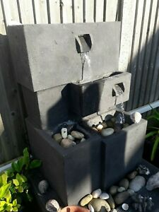 Garden Water Feature with Pump and LED Lights.
