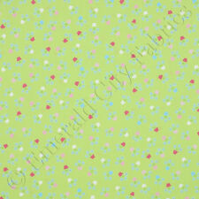 Andover Painted Posies Flower Pots Green Cotton Quilt Quilting Fabric Yardage