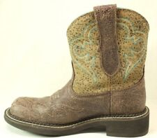 Womens ARIAT Fatbaby Western Cowboy Boots Size 6.5  Style 10015363 Brown Leather