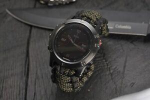 Garmin Fenix 6 6S 6X Pro Paracord Watch Band, Garmin Fenix 5 5S 5X 3 Watch Strap