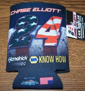 CHASE ELLIOTT #24 RED WHITE & BLUE WINCRAFT CAN COOLER KOOZIE NEW!!!!!!