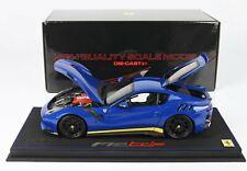 BBR Ferrari F12 TDF Azzurro Dino Leatherette Base 1:18 BBR182100A2DIE