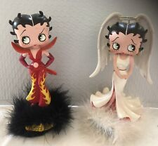 (2) Betty Boop Bobble Heads Angel & Devil 2001 King Features