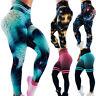 3D Women Ruching Push Up Leggings Yoga Anti Cellulite Scrunch Pants Trousers