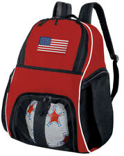 American Flag Soccer Backpack or TEAM USA Volleyball Bag w/ SIDE SHOE POCKETS!