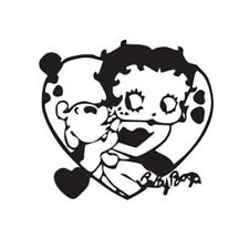Betty Boop - Sticker 25cm Graphic All Colours Gloss Vinyl Decal - Betty017