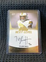 Tyler Hall 🔥 9/10 🔥 Rookie ON CARD Auto 2020 Sage HIT Premier Draft - Falcons